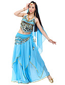 cheap Belly Dancewear-Belly Dance Outfits Women's Chiffon Beading / Sequin / Coin Natural / Performance