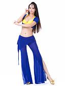 hesapli Göbek Dansı Giysileri-Göbek Dansı Kıyafetler Kadın's Splandeks Kısa Kol / Balo Salonu