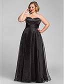 Χαμηλού Κόστους Βραδινά Φορέματα-Γραμμή Α Καρδιά Μακρύ Οργάντζα Ανοικτή Πλάτη Χοροεσπερίδα / Επίσημο Βραδινό Φόρεμα με Χάντρες / Πιασίματα με TS Couture®