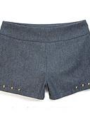 preiswerte Hosen & Röcke für Damen-Damen Street Schick Kleid Solide Niedrige Taillenlinie