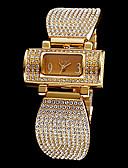 ieftine Lenjerie la Modă-Pentru femei femei Ceas Brățară Ceasuri Pave Quartz imitație de diamant Oțel inoxidabil Bandă Analog Sclipici Modă Elegant Argint / Auriu - Auriu Argintiu Doi ani Durată de Viaţă Baterie