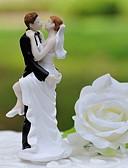 preiswerte Hochzeitskleider-Tortenfiguren & Dekoration Klassisch Klassisches Paar Harz Hochzeit mit Geschenkbox