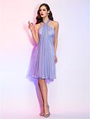 preiswerte Cocktailkleider-A-Linie Halter Knie-Länge Chiffon Cocktailparty Kleid mit Kristall Brosche durch TS Couture®