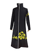 cheap Historical & Vintage Costumes-Inspired by One Piece Trafalgar Law Anime Cosplay Costumes Cosplay Suits Solid Colored Long Sleeve Coat For Men's