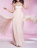 Χαμηλού Κόστους Βραδινά Φορέματα-Ίσια Γραμμή Στράπλες / Καρδιά Μακρύ Σιφόν Χοροεσπερίδα / Επίσημο Βραδινό Φόρεμα με Χάντρες / Χιαστί / Πλισέ με TS Couture®