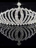 baratos Vestidos de Casamento-Liga Tiaras com 1 Casamento / Ocasião Especial Capacete
