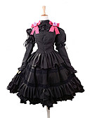 cheap Socks & Hosiery-Inspired by Date A Live Kurumi Tokisaki Anime Cosplay Costumes Cosplay Suits Dresses Bowknot Top Skirt Headband For Women's