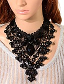 cheap Men's Shirts-Women's Crystal Bib Choker Necklace / Pendant Necklace / Chain Necklace - Tower Gothic Black Necklace 1pc For Party