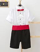 levne Pro malé družby-Černá Směs polyesteru a bavlny Oblek pro mládence - 4 Obsahuje pas / Tričko / Kalhoty