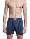 baratos Roupa Interior de Homem-Homens Cueca Boxer Sólido Cintura Média