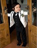levne Pro malé družby-Bílá Serge Oblek pro mládence - 5 Obsahuje Sako Vesta Tričko Kalhoty Motýlek