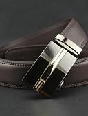 baratos Cintos de Moda-Homens Festa / Trabalho Pele / Liga, Cinto para a Cintura Sólido