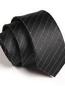 cheap Men's Ties & Bow Ties-Men's Party Work Polyester Necktie - Striped