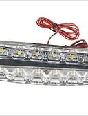 זול שמלות נשים-2pcs מכונית נורות תאורה 3W SMD LED 90lm 6 LED אורות יום