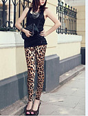 billige Leggings-Dame Silke Legging - Leopardtryk Medium Talje