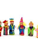 povoljno Džemperi i kardigani za djevojčice-6kom obiteljski ljudi platno prst lutkarskih igračke (slučajni uzorak)