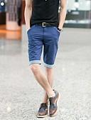 お買い得  メンズパンツ-男性用 クラシック・タイムレス ショーツ パンツ - ソリッド / 純色 ライトブルー
