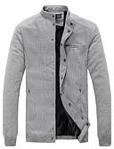 ieftine Îmbrăcăminte Bărbați de Exterior-Jachetă Clasic & Fără Vârstă-Culoare solidă,Culoare pură