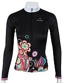hesapli Gelin Şalları-ILPALADINO Bisiklet Forması Kadın's Uzun Kollu Bisiklet Forma Üstler Bisiklet Elbiseleri Hızlı Kuruma Nefes Alabilir Çiçek/Botanik