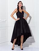 preiswerte Abendkleider-Ballkleid Spaghetti-Träger Asymmetrisch Taft Cocktailparty / Abiball Kleid mit Gerafft / Plissee durch TS Couture®