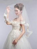 رخيصةأون طرحات الزفاف-One-tier Lace Applique Edge / Scalloped Edge الحجاب الزفاف Elbow Veils مع 55.12 في (140cm) دانتيل / تول