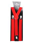 baratos Vestidos Plus Size-Vermelho Suspender Sólido / Clássico Homens Jóias de fantasia Para Festa / Negócio / Cerimônia / Casamento