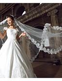 ieftine Voal de Nuntă-Un nivel Margine cu Aplicație de Dantelă Voal de Nuntă Voaluri de Catedrală Cu 118.11 în (300cm) Tulle