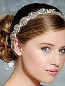 cheap Wedding Dresses-Rhinestone / Silk Headbands / Headwear with Floral 1pc Wedding / Special Occasion Headpiece