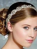 رخيصةأون طرحات الزفاف-حجر الراين / حرير بندانة رأس / أغطية الرأس مع ورد 1PC زفاف / مناسبة خاصة خوذة