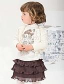 baratos Roupas de Meninas-Menina de Vestido Sólido Primavera Outono Manga Longa Branco