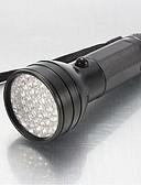 billige Lang Kjole Sweater-LS014 Ultraviolette lommelygter LED - 51 Sendere 150 lm 1 Lys Tilstand Vandtæt, Nedslags Resistent, Glidesikkert Greb Politi / Militær, Jagt, Arbejde Sort