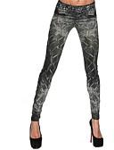 tanie Damskie spodnie-Damskie Jeans Legging - Geometryczny Średni Talia