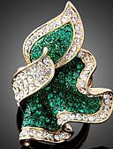 povoljno Bluza-Žene Prsten Izjave Smaragd Fuksija Svjetloplav Ružičasto zlatno Imitacija dijamanta Legura Poslastica dame Luksuz Party Jewelry Klastera