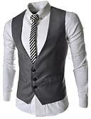 billige Herreblazere og jakkesæt-Herre Ensfarvet Vest Bomuld