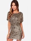 tanie Sukienki-Damskie Klubowa Pochwa Sukienka - Jendolity kolor, Bez pleców Mini