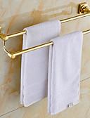 hesapli Gelin Şalları-Havlu Çubuğu Çağdaş Pirinç 1 parça - Otel banyo 2 kulplu çubuk / Çift