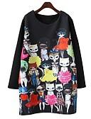preiswerte Damen Kleider-Damen Übergrössen T Shirt Kleid - Druck