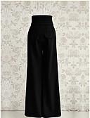 رخيصةأون بنطلونات و ليغنغ نسائي-بنطلون سادة ساق عريضه جينزات قديم للمرأة