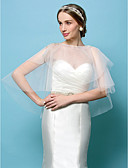 cheap Mother of the Bride Dresses-Tulle Wedding / Party Evening Wedding  Wraps With Capelets