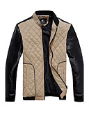 זול חולצות לגברים-צבעים מרובים קלסי ונצחי ג'קט סגנון קלאסי