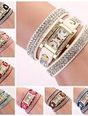 cheap Bracelet Watches-Women's Bracelet Watch Quartz PU Band Analog Sparkle Bohemian Fashion Black / White / Blue - Blue Pink Light Blue One Year Battery Life / Jinli 377
