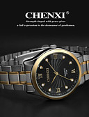 voordelige Herenhorloges-CHENXI® Heren Polshorloge Roestvrij staal Band Amulet Zilver