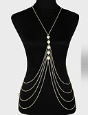 cheap Fashion Hats-Body Chain Unique Design, Party, Casual Women's Gold Body Jewelry For Party