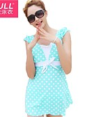 cheap Outlets-Lovely woman polka dot dress style bathing suit