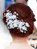 cheap Women's Hats-Pearl / Crystal / Fabric Tiaras / Flowers with 1pc / 1 Wedding / Party / Evening Headpiece / Alloy