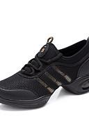 povoljno Plesna oprema-Žene Plesne tenisice / Cipele za vježbanje Sintetika Tenisice Vezanje Niska potpetica Nemoguće personalizirati Plesne cipele Crna i