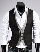 cheap Men's Shirts-Men's Business Formal Slim Vest-Solid Colored / Sleeveless / Work
