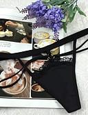 cheap Panties-Women's Ultra Sexy Panties G-strings & Thongs Panties Solid Colored Mid Waist