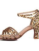 hesapli Latin Dans Giysileri-Kadın's Latin Dans Ayakkabıları / Balo / Salsa Ayakkabıları Saten / İpek Yüksek Topuklular / Sandaletler Toka Kişiye Özel / İç Mekan