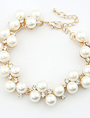 cheap Wedding Dresses-Women's Pearl Chain Bracelet Charm Bracelet Pearl Rhinestone Dainty Ladies Party Casual Fashion Bracelet Jewelry For Wedding Gift Daily Masquerade Engagement Party Prom